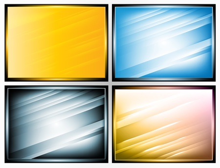 gradient: set of 3d frame with stripes, EPS10 with mesh gradient