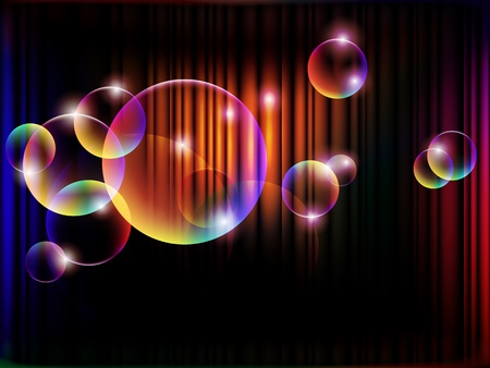 abstract night with magical bubbles, EPS 10 with mesh