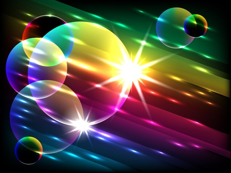 vector glowing colorful bubbles, EPS 10 with mesh gradient Vector