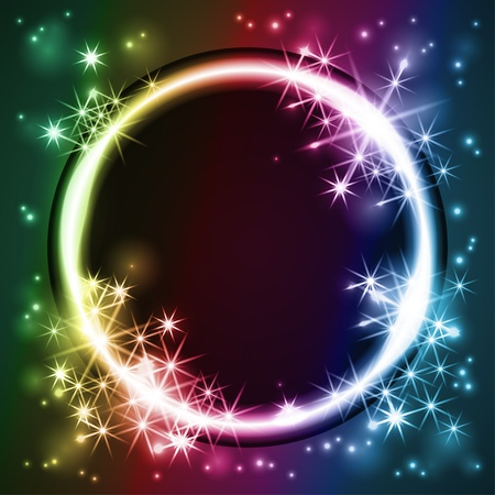 glowing round frame, EPS 10 with transparency Vector
