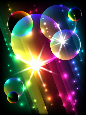 lens brush: vector glowing colorful corner, EPS 10 with mesh gradient