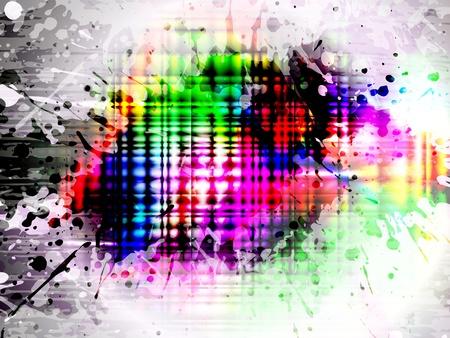 EPS10 glowing colorful splash, vector with mesh gradient