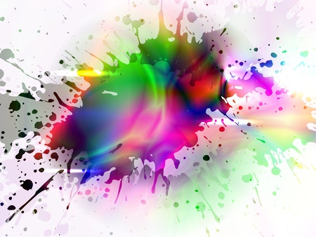 vector glowing colorful corner  Illustration