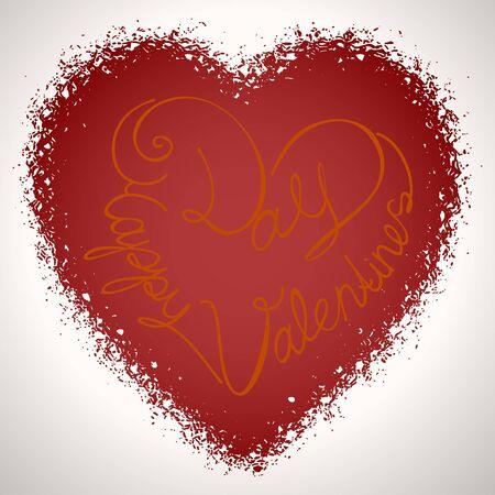 wedding backdrop: vector grunge heart, valentines day card.