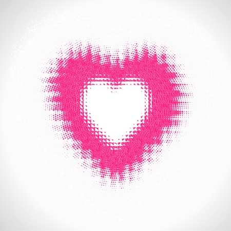 vector heart, valentine's day card, halftone effect Stock Vector - 12380034