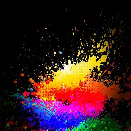 de cor: fundo abstrato do grunge com transpar Ilustração