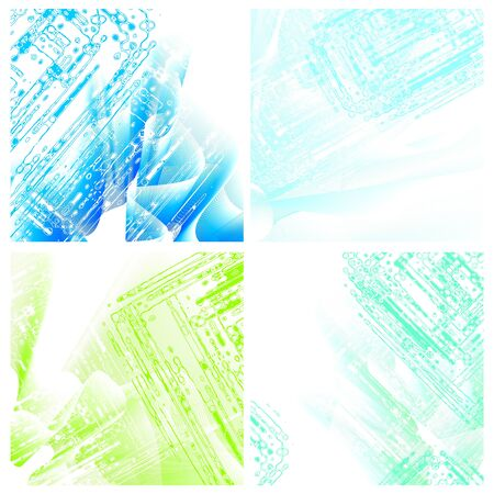set of 4 stylized square  backgrounds Vector