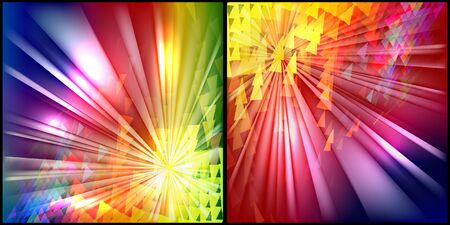 one  background in different colors, position and light effect Vector