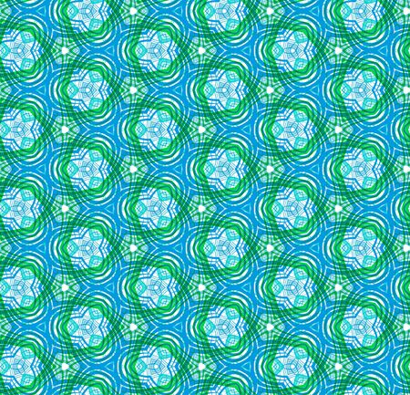 geometric seamless pattern without gradient Vector