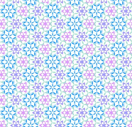 illustration of geometric seamless pattern without gradient Vector