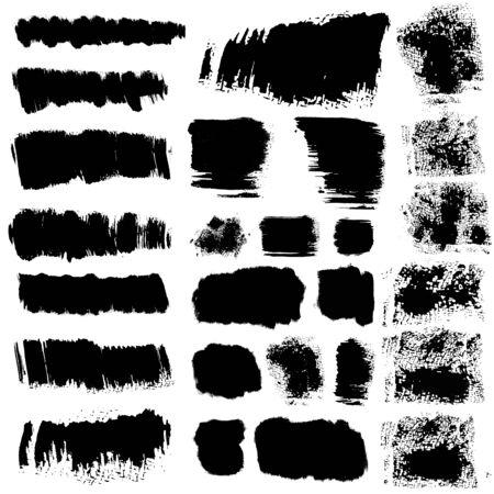 brush modern: set of 26 vector brush stroke stains