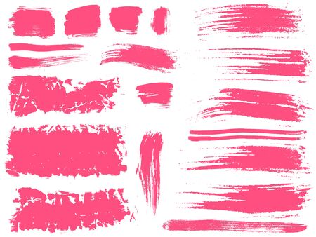 grungy header: set of 19 vector brush strokes and stains