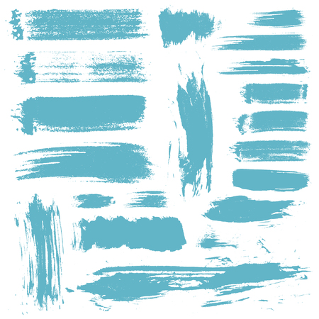 craquelure: set of 20 vector brush strokes and stains Illustration