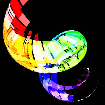 gradation art: vector  colorful swirl, EPS 10 with transparency