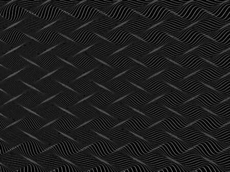 interweaving: abstract black and white wireframe distortions