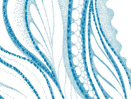 unusual: beautiful vector geometric composition, unusual dotted technique