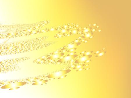 techniek: mooie geometrische compositie, ongewone gestippelde techniek Stock Illustratie