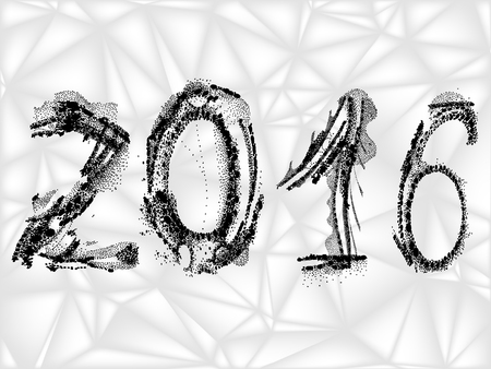 numbers clipart: decorative numbers of 2016, vector EPS 10 Illustration