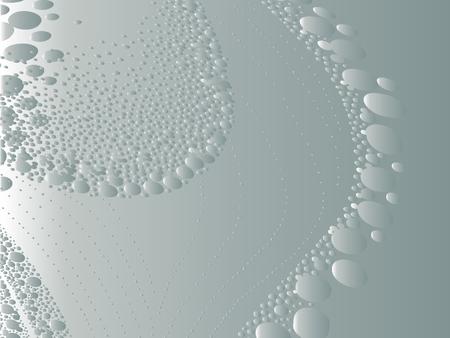 techniek: mooie vector geometrische compositie, ongewone gestippelde techniek Stock Illustratie