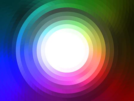 rainbow colours: vector composition with grid, tiles, gradient effect
