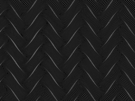 abstract black and white wireframe distortions, vector rhythmic composition
