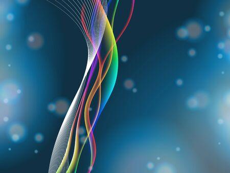 ondas energéticas, con transparencia y malla