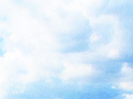 illusion: Vector cloudy blue sky. Illustration