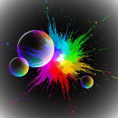 blot: colorful blot Illustration