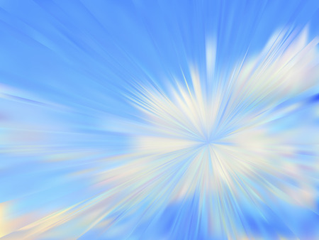 Abstract cloudy blue sky. Vector iridescent mesh gradient. Colorful blue sky, illusion of oil paintings. Multicolor shades of colors, special effect.