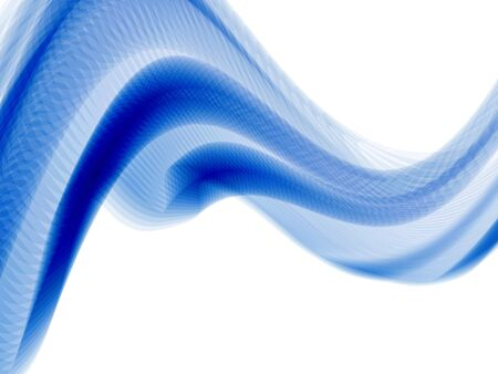 swirl border: vector 3d effect waves, with transparency Illustration