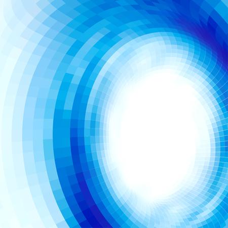 opt: abstract vortex, vector op art, gradient effect without gradient Illustration