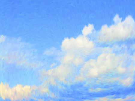 Vector cloudy blue sky