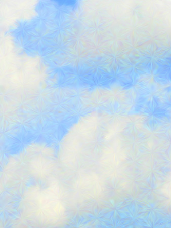 photo realism: Vector cloudy blue sky