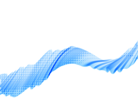 abstract blue wave illustration.
