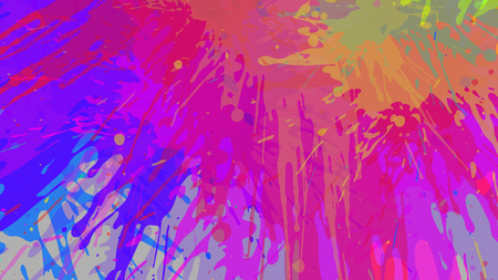 Wide format abstract grunge background. Vector without gradient. Place for text. Paint splashes. Background for presentation business card. Full HD 4K grunge wallpaper. Illustration