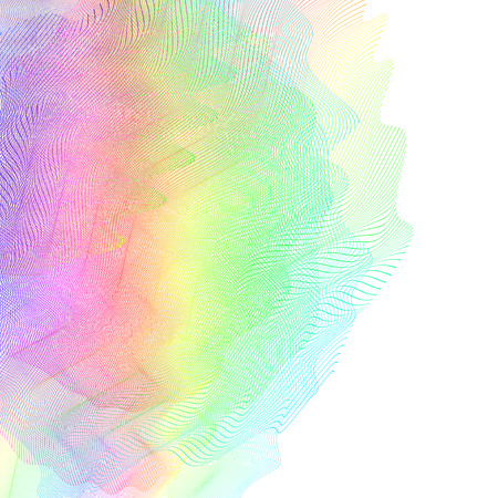 abstract wireframe distortions, vector composition with motion effect  イラスト・ベクター素材