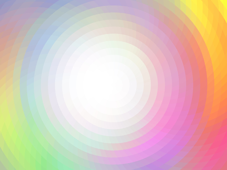 Round abstract composition. Vector background with mosaic tiles, visual illusion of gradient effect, but vector without gradient. Empty space for text. Round frame Ilustração Vetorial