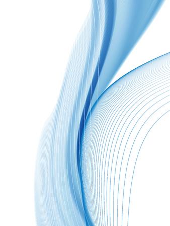 Ligne ondulée et courbe de vecteur. EPS10 avec transparence. Composition abstraite avec des lignes courbes. Lignes floues avec espace de copie. Place pour le texte. Lignes de frontière