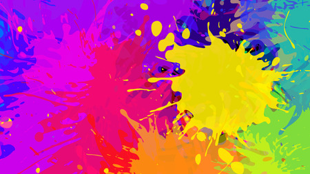 Wide format abstract colorful grunge background. Place for text. Paint splashes. Background for presentation business card. Full HD 4K wallpaper. Vector without gradient, EPS10 with transparency Vektorové ilustrace