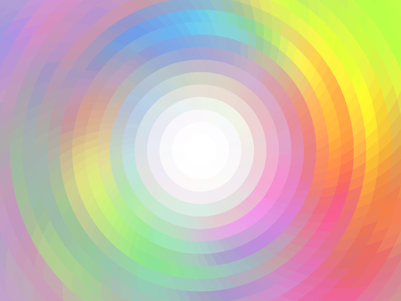 Round abstract composition. Vector background with mosaic tiles, visual illusion of gradient effect, but vector without gradient. Empty space for text. Round frame