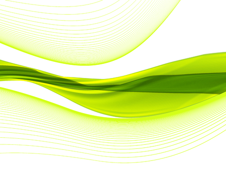 Vector wavy and curve line. EPS10 with transparency. Abstract composition with curve lines. Blurred lines with copy space. Place for text. Border lines Vectores