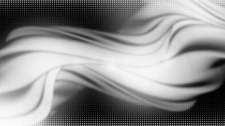 Vector 3d striped waves. Abstract composition, curve lines with copy space. Place for text. Background for presentation, wallpaper, interior wall decor. Opical illusion. Vector without gradient Ilustração