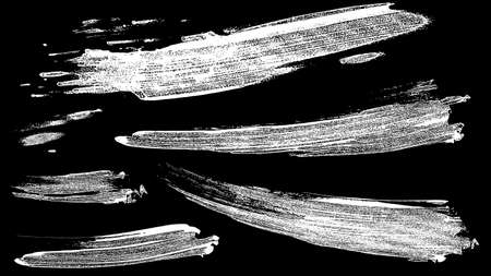 set of vector EPS10 brush stroke stains. Collection of hand drawn white brushes, high quality trace