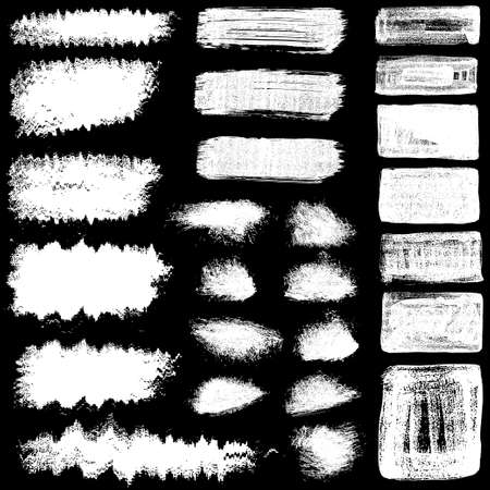 set of vector EPS10 brush stroke stains. Detailing grunge texture. Collection of hand drawn brushes, high quality trace