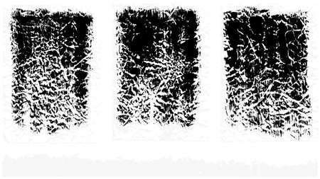 set of crumpled paint brush. Detailing grunge texture. Collection of hand drawn brushes, high quality trace.