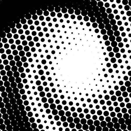 Halftone effect, trendy dotted illusion of gradient, vector. Abstract halftone background. Faded dot screen.