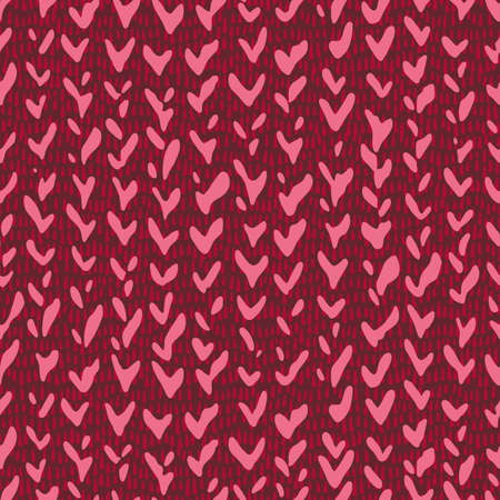 Hand drawn decorative knitting braids texture, Stylized sweater fabric. Chevron herringbone seamless pattern. Simple geometric shapes background made of tick, checkmarks and hatching line.