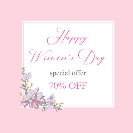 Womans Day collection sale banners.Sale Discount 8 March Happy Women s Day poster. Eighth March gift card. Spring Holiday Sale. Futuristic, promotion design. Advertising, Marketing, greeting cards, gifts etc.