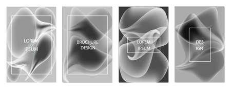 Minimal covers design. Colorful halftone gradients. Future geometric patterns. Eps10 vector. Çizim