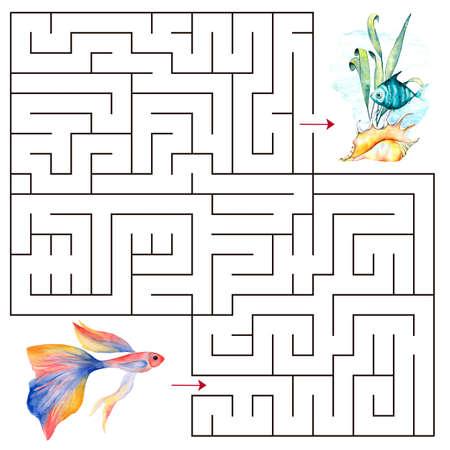 Kids maze.Educational a mathematical game. Stok Fotoğraf